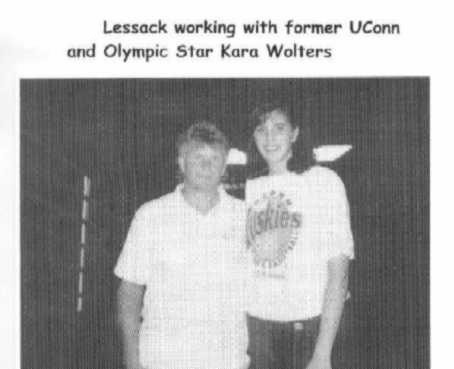 Paul Lessack Ph.D working with former UConn and Olympic Star Kara Wolters>